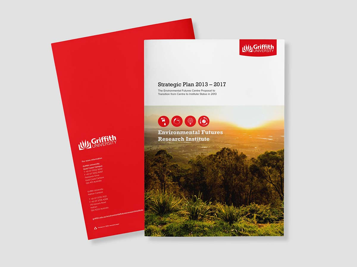 Griffith University Brochure Design